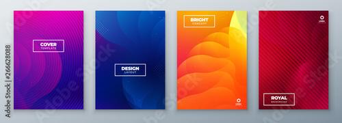 Stampa su Tela  Minimal modern cover design