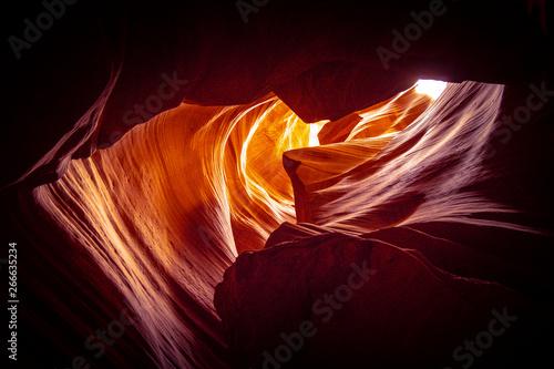 Foto auf AluDibond Schwarz Upper Antelope Canyon in Ariziona - travel photography