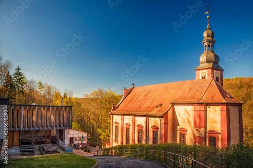 Wallfahrtskirche Mariabuchen von Lohr am Main, Spessart, Unterfranken, Bayern Billede på lærred
