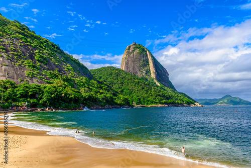 Canvas Prints Rio de Janeiro Mountain Sugarloaf and Red beach in Rio de Janeiro, Brazil.