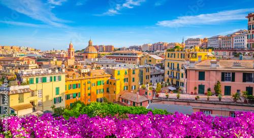 Deurstickers Liguria Panoramic view of Genoa in a beautiful summer day, Liguria, Italy