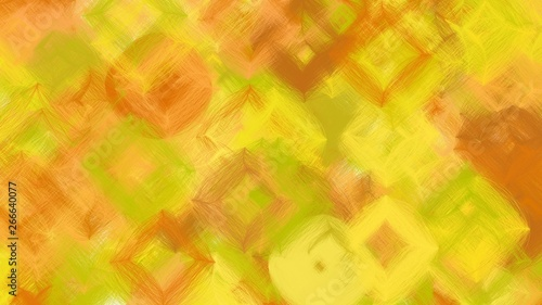 Poster Pissenlit beautiful digital art with golden rod, vivid orange and dark golden rod colors. dynamic and abstract bokeh artwork can be used as wallpaper, poster, canvas or background texture