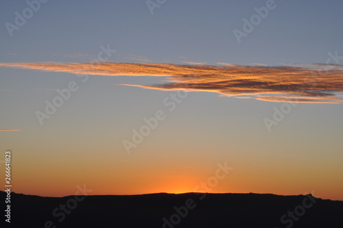 Keuken foto achterwand Rood paars Sunset at Reed lookout, Grampians, Victoria