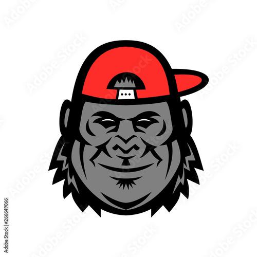 d42ed7f1970b93 Gorilla Wearing Cap Mascot – kaufen Sie diese Vektorgrafik und ...
