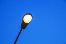 Street Lamp Against The Blue Sky