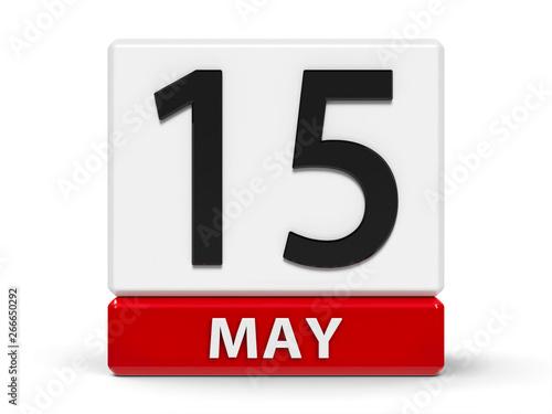 Fotografía  Cubes calendar 15th May
