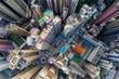 Top down view of Compact city of Hong Kong