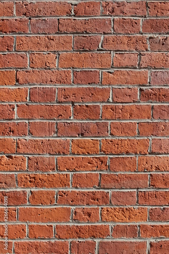 Sunny Red Brick Wall Background/Wallpaper Portrait View