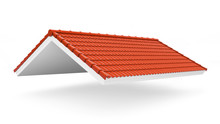 3d Roof On The White Backgroun...