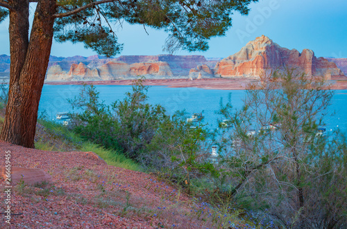 Lake Powell In Northern Arizona Is Located Within The Glen