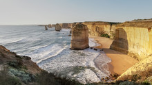 Twelve Apostles At Sunset In Port Campbell  National Park, Victoria