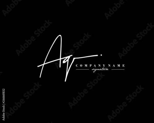 A G AG Signature initial logo template vector Wallpaper Mural