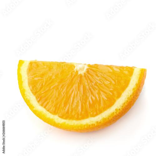 Fresh Sliced oranges isolated on white background Wallpaper Mural