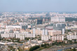Moscow panorama from the top of a tower in Moscow city business center