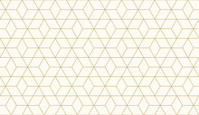 Background Pattern Seamless Geometric Abstract Gold Luxury Color Vector.