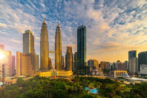 Photo Stands Kuala Lumpur Sunrise Scene of Kuala lumpur city skyline Kuala lumpur Malaysia