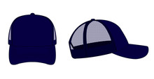 Trucker Cap / Mesh Cap Template Illustration (navy Blue)