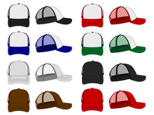 Trucker Cap / Mesh Cap Template Illustration Set