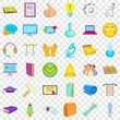 Computer learning icons set. Cartoon style of 36 computer learning vector icons for web for any design