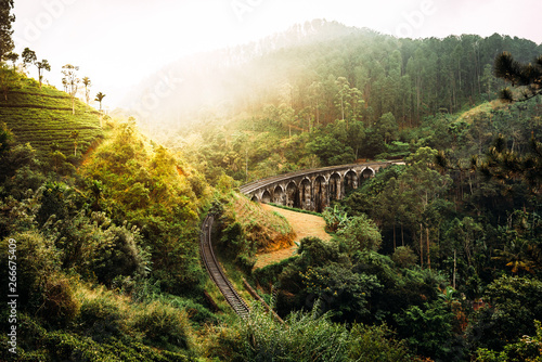 Fotomural Nine-arch bridge in Sri Lanka