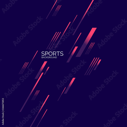 Fototapety, obrazy: Modern colored poster for sports. Vector graphics