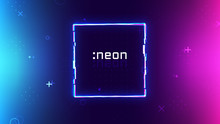 Trendy Neon Abstract Backgroun...