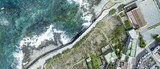 Aerial overhead view of coastline - 266686265
