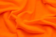 Textureof Vibrant Orange Fleece