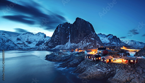 Fototapeta  magische Nacht auf den Lofoten