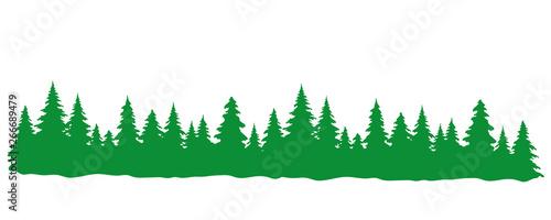 Fotomural Grüner Wald Panorama