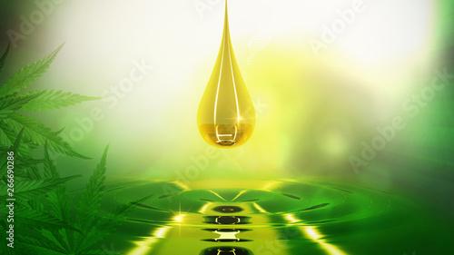 Fotografia  oil hemp.abstract cannabis background