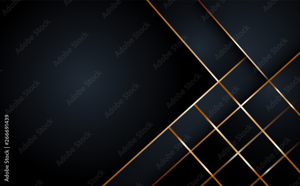 Fototapeta Black abstract layer geometric illustration background  for card, annual business report, poster template