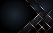 Black Abstract Layer Geometric...