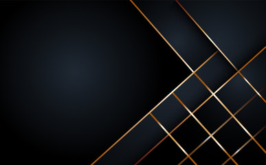Black abstract layer geometric illustration background  for card, annual business report, poster template