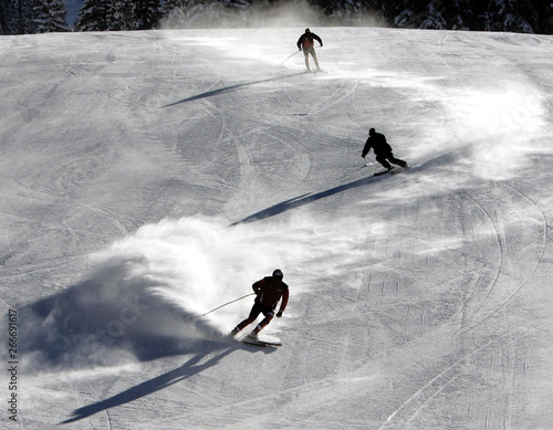 World Cup competitors free ski in advance of four days of World Cup