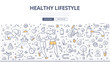 Healthy Lifestyle Doodle Concept