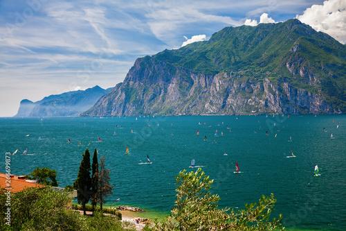 windsurfing on a Garda lake Canvas