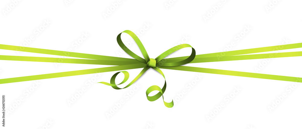 Fototapety, obrazy: green colored ribbon bow
