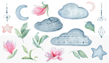 Magnolia Flowers  And Clouds S...
