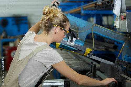 pregnant working in construction factory
