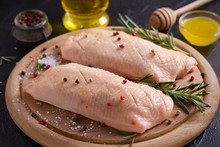 Raw Uncooked Poultry Meat. Duc...