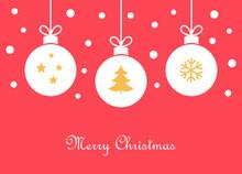 Christmas Balls Ornaments Greeting Card.