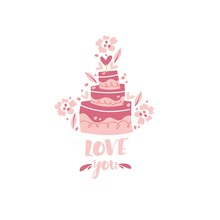 Vector Illustration Of A Weddi...