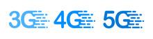 Fast 3G, 4G, 5G. Speed Internet.