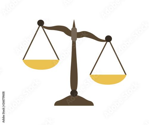 Fotografija Scales in flat design. Libra icon. Scales of justice.