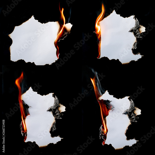 burning piece of  paper Wallpaper Mural