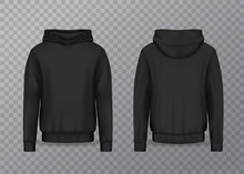 Realistic Men Hoodie Or Black ...