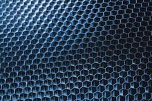 Blue Metallic Honeycomb Grid T...