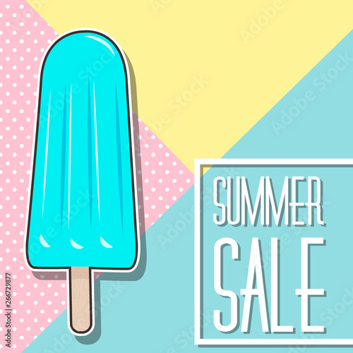 Poster Retro sign cute summer poster