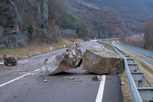 Rockfall On The Mainroad In Do...